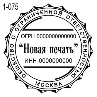 Новый 2019 пример печати компании 75