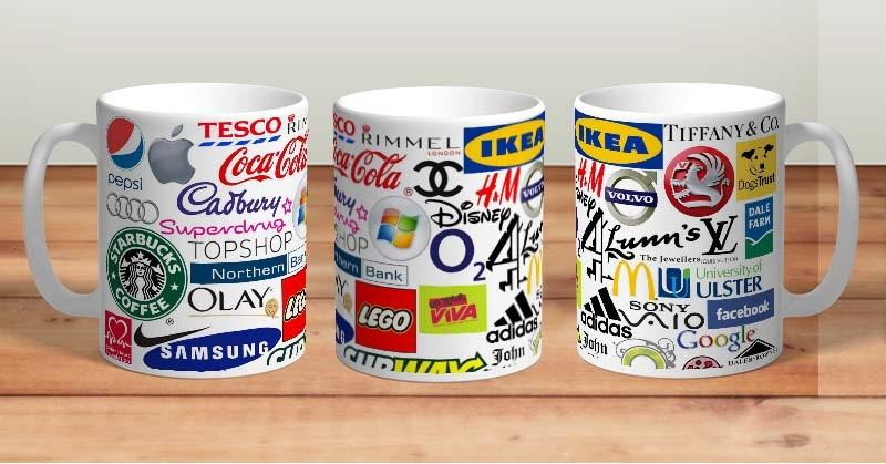 Кружка с логотипами известных компаний